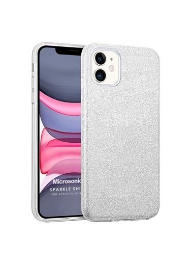 Microsonic Microsonic Apple iPhone 11 Kılıf Sparkle Shiny Gold Gümüş